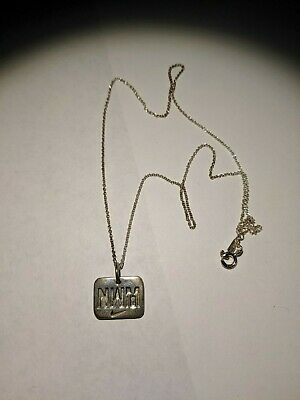 Sterling silver Tiffany&Co necklace NWM nike I RUN TO BE