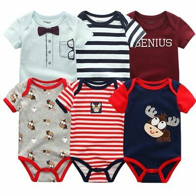 Newborn Baby Winter Jumpsuit Clothes Infants Romper Fashion Clothing Toddler 6pc