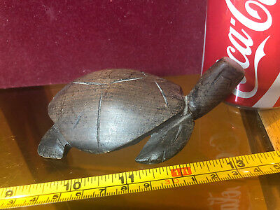 Wooden Turtle Tortoise Terrapin Wood Cute Ornament