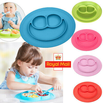 Silicone Mat Cute Baby Kids Suction Table Food Tray Placemat Plate Bowl 6 Colors