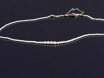 antike Natur- Perlenkette um 1920 - Gold 585 Rubine Diamanten - natural pearls