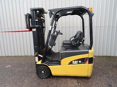 3W CAT EP16NT. 4750mm LIFT USED ELECTRIC FORKLIFT TRUCK. (#2588)