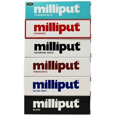 Milliput  - Turquoise - Standard - Terracotta - Black - Grey - Superfine White