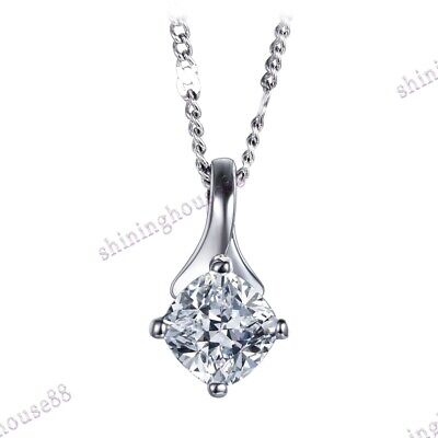 925 Sterling Silver Cubic Zirconia Setting Wedding Solitaire Anniversary Pendant