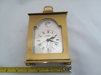 Swiss Made Swiza Electronic Carriage Clock / Mantle Clock Spares or Repair