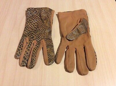 Ladies Vintage Nylon Gloves Snakeskin 50's 60's