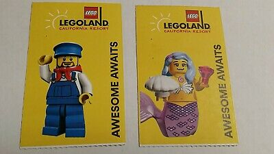 LEGOLAND Tickets!! TWO Total works for ADULT or CHILD valid til March 2020 FREE!