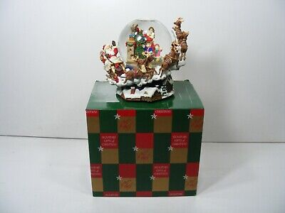 Lord & Taylor Christmas Musical Snow Globe with Characters  Spinning Around