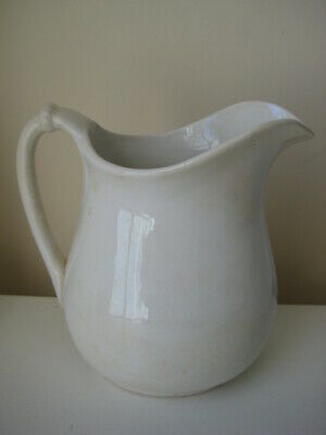 1900's vtg Homer Laughlin rope handle ironstone PITCHER antique jug ewer 113 N