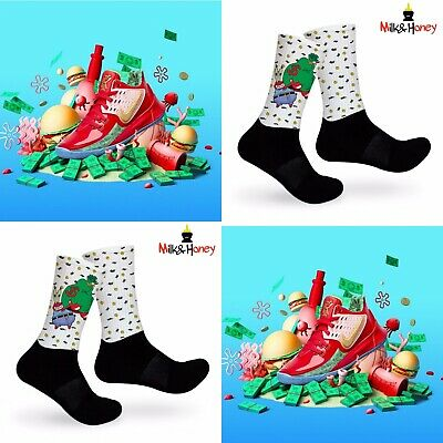 Kyrie Mr.Krabs Customized Socks