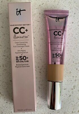 IT Cosmetics CC+ Cream (Medium) Your Skin but better Illumination SPF 50.