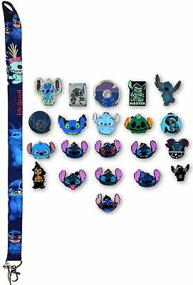 Stitch Lanyard Starter Set w/ 10 Lilo & Stitch Themed Disney Trading Pins - NEW