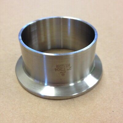 SANITARY 2″ 304 STAINLESS LONG WELD FERRULE CLAMP END DAIRY TRI CLOVER /<SAN034