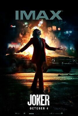 Joker Joaquin Phoenix Imax Movie Poster Film A4 A3 A2 A1 Print Cinema