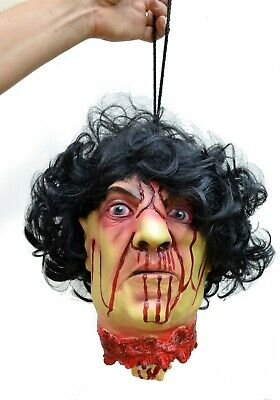 Scary Halloween Props Life Size Hanging Zombie Corpse Non animated Severed Head