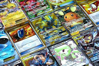 Pokemon Card Lot 100 OFFICIAL TCG Cards Ultra Rare Included | GX EX or Mega!