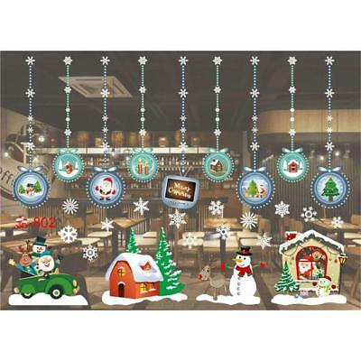 Christmas Home Glass Window Wall Sticker Decal Removable Decor Gifts LL