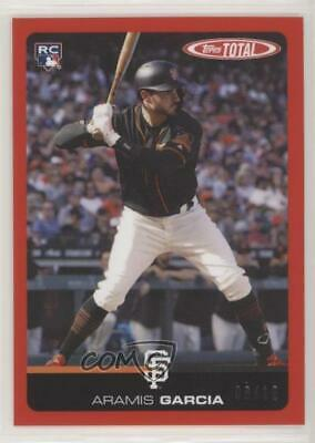 2019 Topps Total Red/10 #519A Aramis Garcia San Francisco Giants Rookie Card