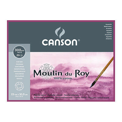 Canson Moulin du Roy WC Paper Block 9x12.5in 300gsm 20 Sheets HP