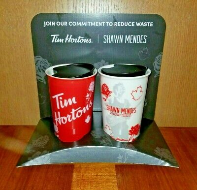Shawn Mendes Tim Hortons Ceramic Coffee Travel Cup Mug - Red & White