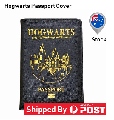 Harry Potter Hogwarts Passport Cover Travel Holder Wallet Organiser Protector