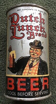 Dutch Lunch Brand Oi Irtp Flat Top Beer Can Grace Bros Los Angeles California