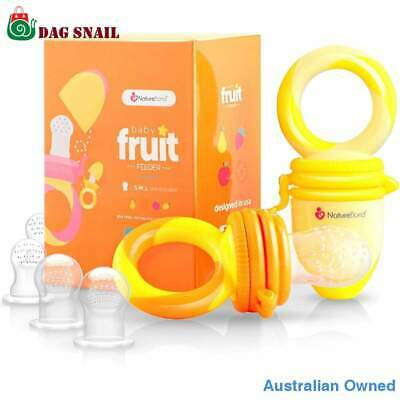 Baby Food Feeder Pacifier Infant Teether Toy Silicone Sacs NatureBond 2 Pack