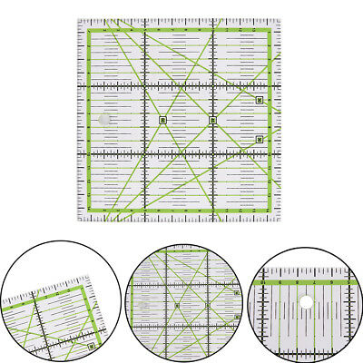 15*15cm clear quilting sewing patchwork ruler cutting tool tailor Z wr