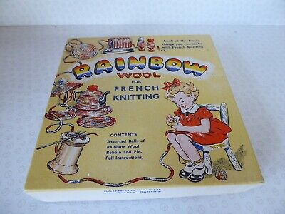 Rainbow Wool For French Knitting - Vintage Craft Kit Boxed 1950's ?