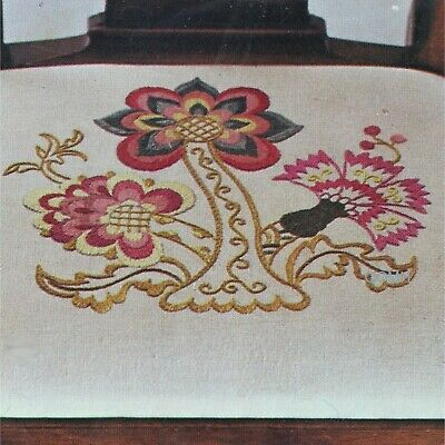 Paragon WILLIAMSBURG CHAIR SEAT Cover Crewel Embroidery Kit Np-36 Jacobean Style