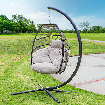 Cool Outdoor Large Lounge Chair Patio Hanging Egg Seat Swing Beatyapartments Chair Design Images Beatyapartmentscom