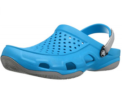 Crocs Mens Adults Swiftwater Deck Clogs Blue Mens 6 UK / Womens 7 UK