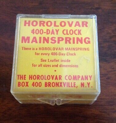 Horolovar 12x24 Mainspring For 400 Day Clock With Instructions
