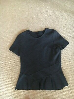Women's J. Crew Gray Short Sleeve Peplum Top, Size Small Gently Used