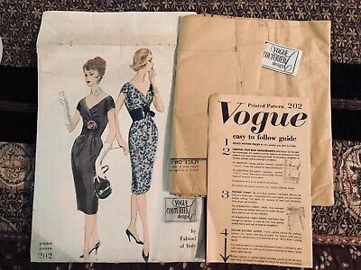 1960's VOGUE COUTURIER DESIGN by Fabiani Pattern No. 202 FF-Uncut B36 And LABEL