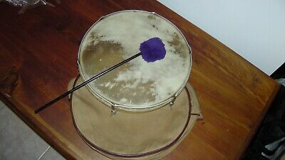Vintage wooden Drum with Case & Beater
