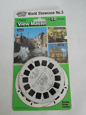 1980s Epcot Center World Showcase No. 3 View-Master Walt Disney World 3 Reel Set