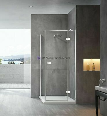 Melbourne Semi Frameless Shower Screen 950x950 Pivot Door  Suit 1000 Base, SS17