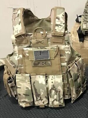 LIMITED QUANTITY- Multicam Tactical Vest Plate Carrier With Plates- curved 10x12