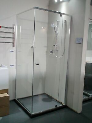 Melbourne 870x870 Semi Frameless Shower Screen Pivot Door, SS16, Clearance