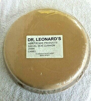 "New Dr Leonard's Healthcare Products 15"" Durable Swivel Seat Cushion 20990 CAMEL"
