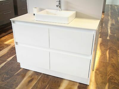Melbourne 520mm Extra Deep White 1200 Bathroom Vanity with Stone Top BV03WOT