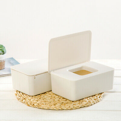 Dustproof Wet Tissue Holder Storage Box Case Container With Lid Cheerful