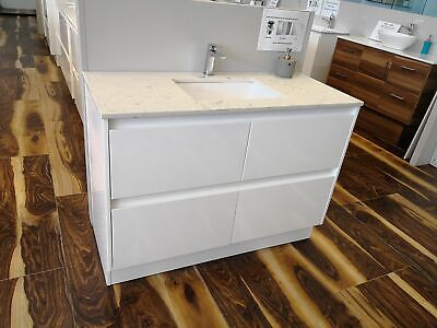 Melbourne 520mm Extra Deep White 1200 Bathroom Vanity with Stone Top BV03WUM
