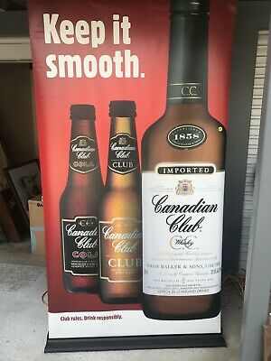 Canadian Club  massive vinyl  promotional pull up banner excellent condition