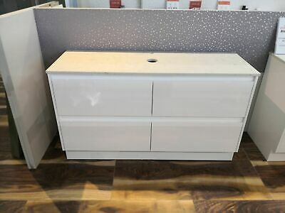 Melbourne 520mm Extra Deep Single White 1500 Bathroom Vanity Stone Top BV03WOT