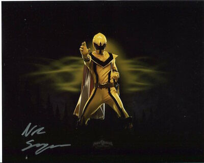 Nic Sampson In Person Signed Photo - Power Rangers Mystic Force - G376