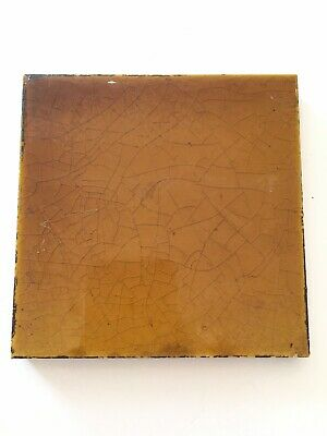 Rust Colour Edwardian Fireplace Ceramic Tile Antique