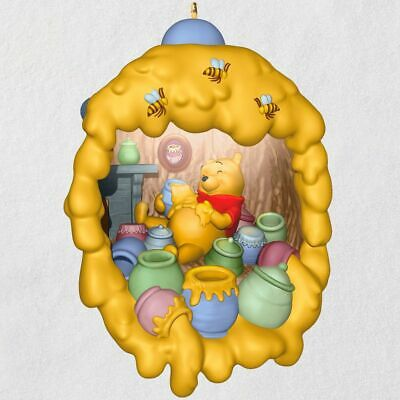 Hallmark Keepsake 2019 Winnie the Pooh Home Is Where the Hunny Is Ornament Light