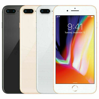Apple iPhone 8 Plus - 64GB 256GB GSM Unlocked A1897 Free Tempered Glass!